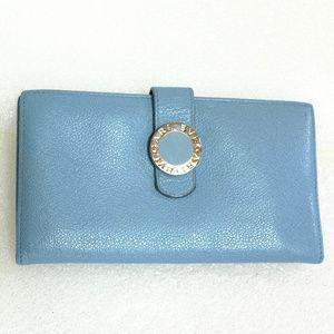 BVLGARI Bifold Long Wallet Clutch Case Purse